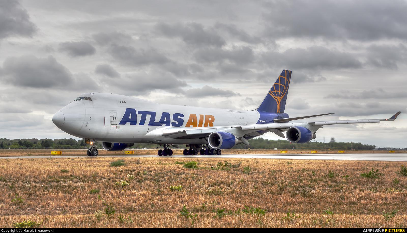 Atlas Air N496MC aircraft at Warsaw - Frederic Chopin