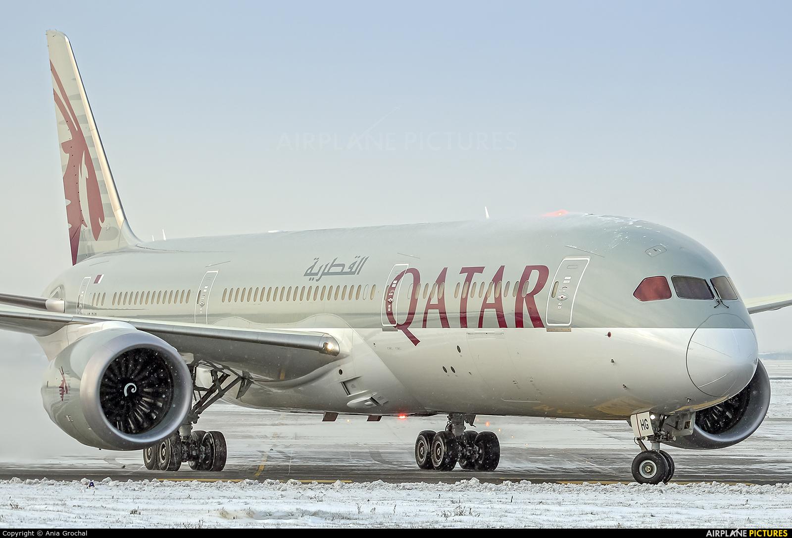 Qatar Airways A7-BHG aircraft at Warsaw - Frederic Chopin