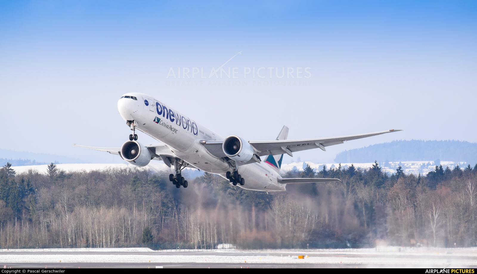 Cathay Pacific B-KPL aircraft at Zurich