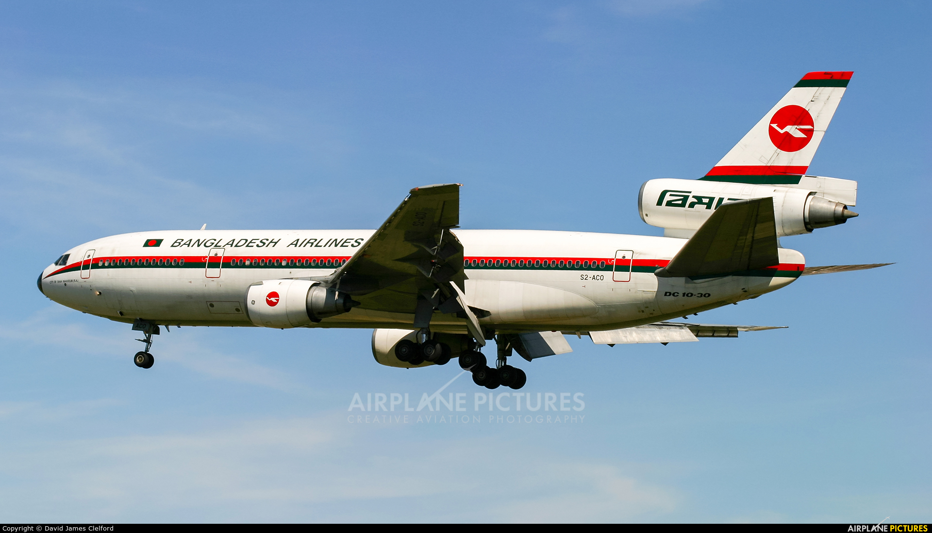Biman Bangladesh S2-ACO aircraft at London - Heathrow