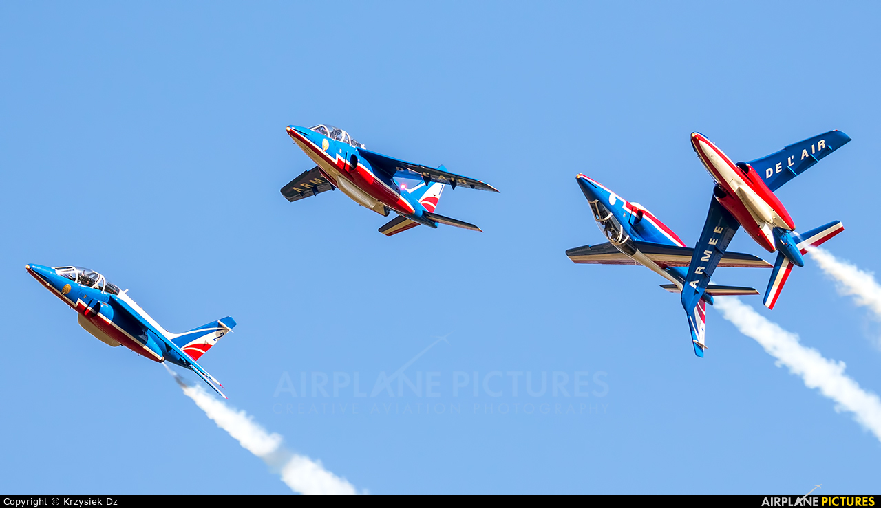 "France - Air Force ""Patrouille de France"" E127 aircraft at Ostrava Mošnov"