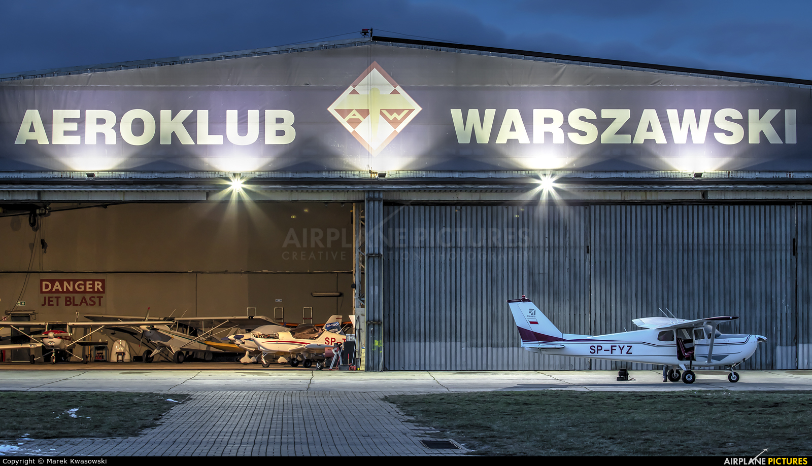 Private SP-FYZ aircraft at Warsaw - Babice
