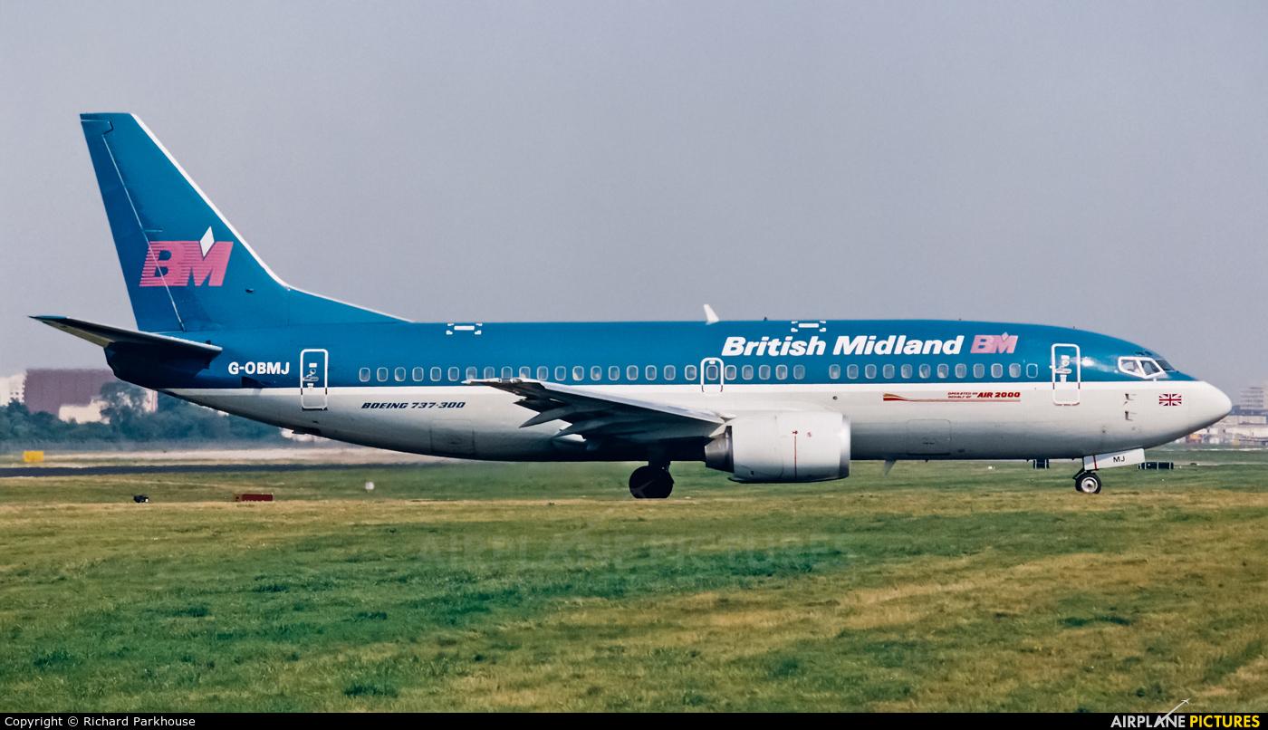 British Midland G-OBMJ aircraft at London - Gatwick