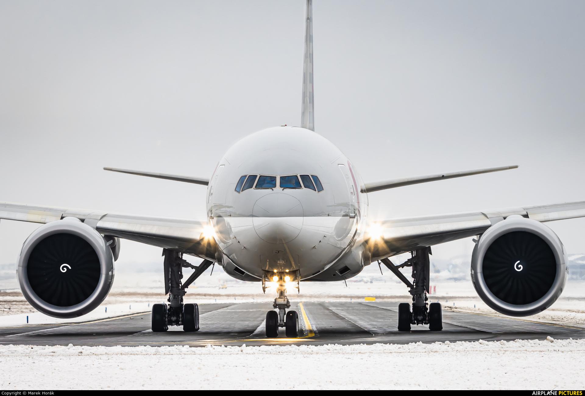 Qatar Airways Cargo A7-BFO aircraft at Prague - Václav Havel