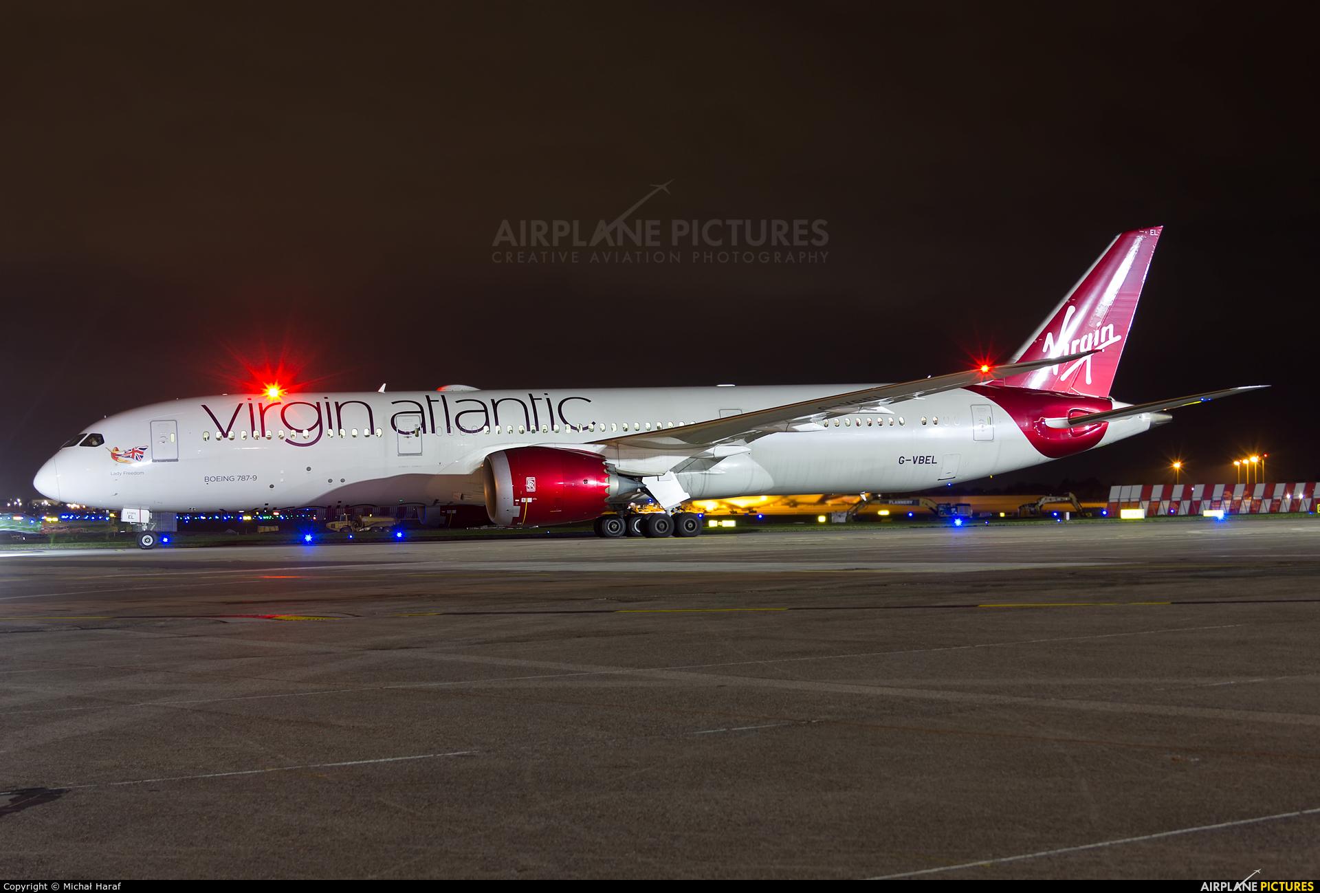 Virgin Atlantic G-VBEL aircraft at Dublin