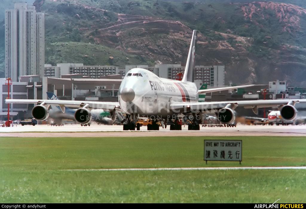 Flying Tigers N749WA aircraft at HKG - Kai Tak Intl CLOSED