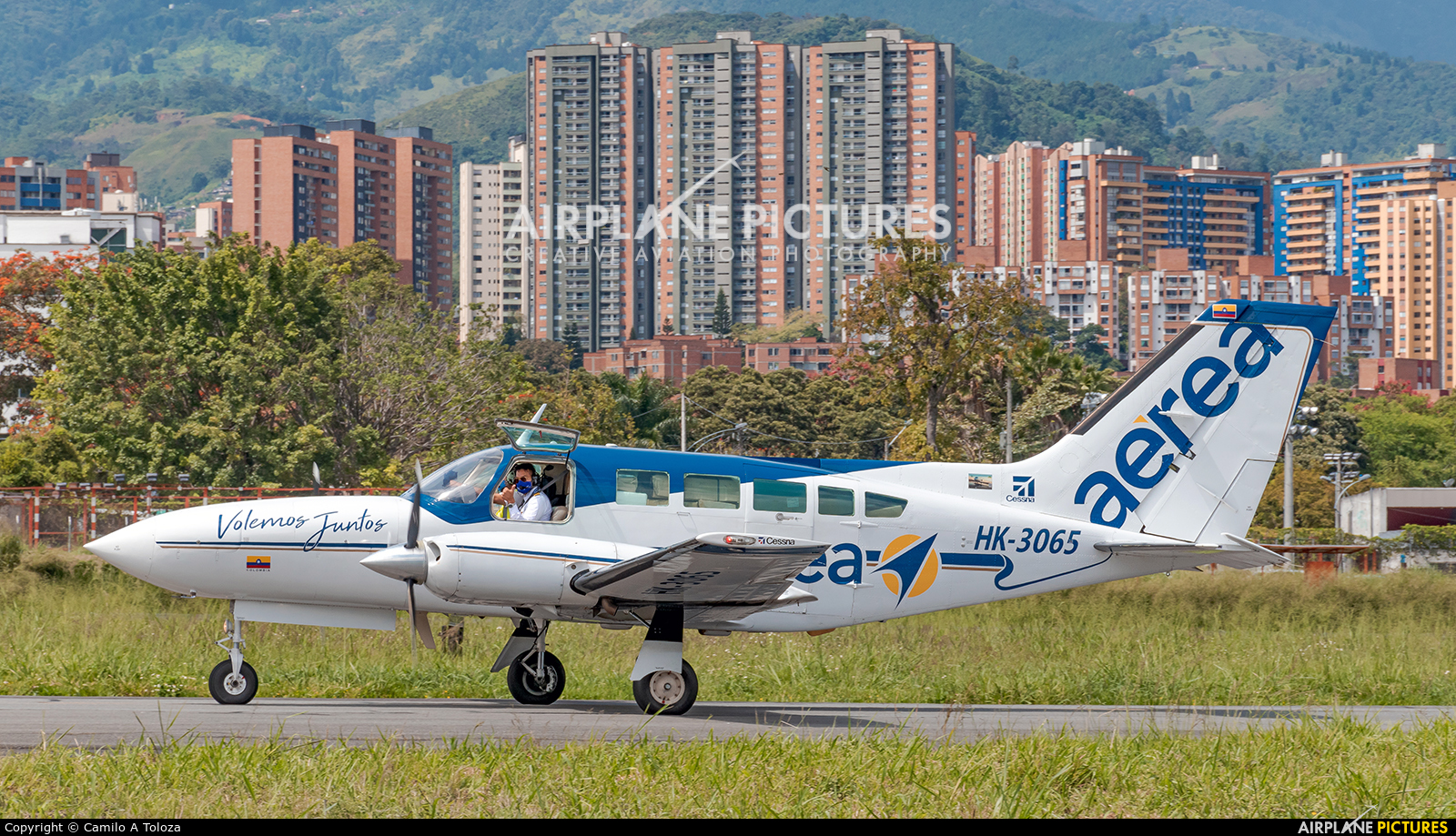 Aeroejecutivos de Antioquia HK-3065 aircraft at Medellin - Olaya Herrera