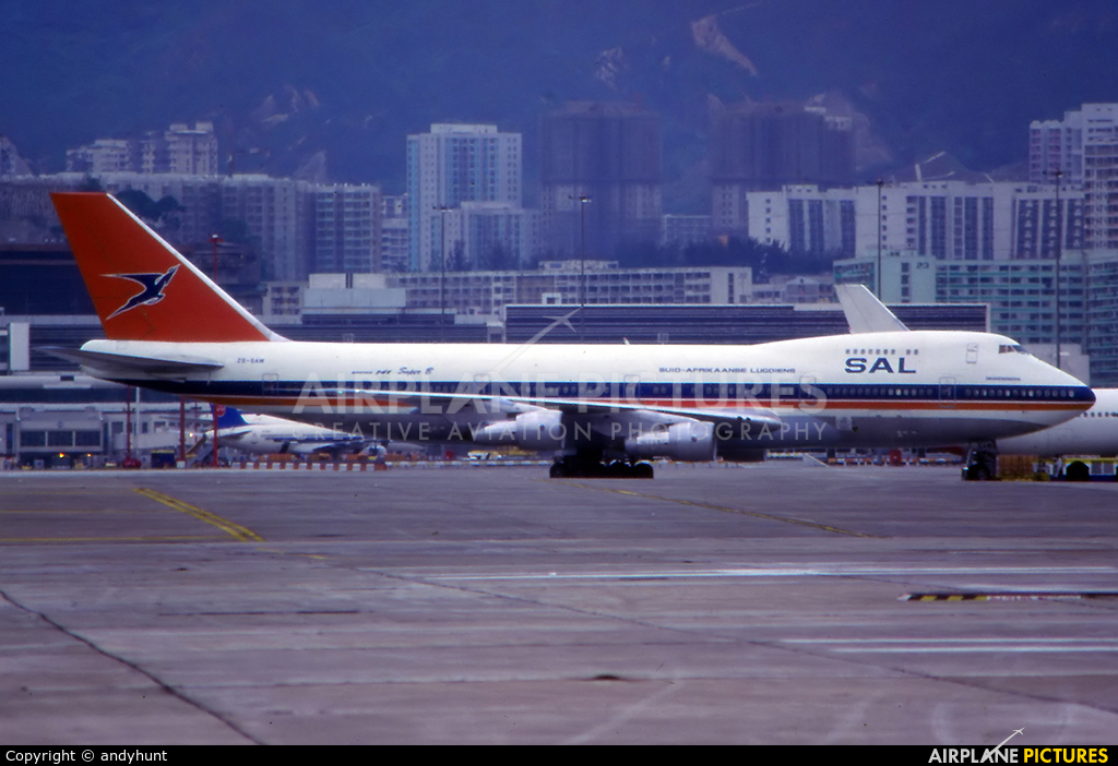 South African Airways ZS-SAM aircraft at HKG - Kai Tak Intl CLOSED