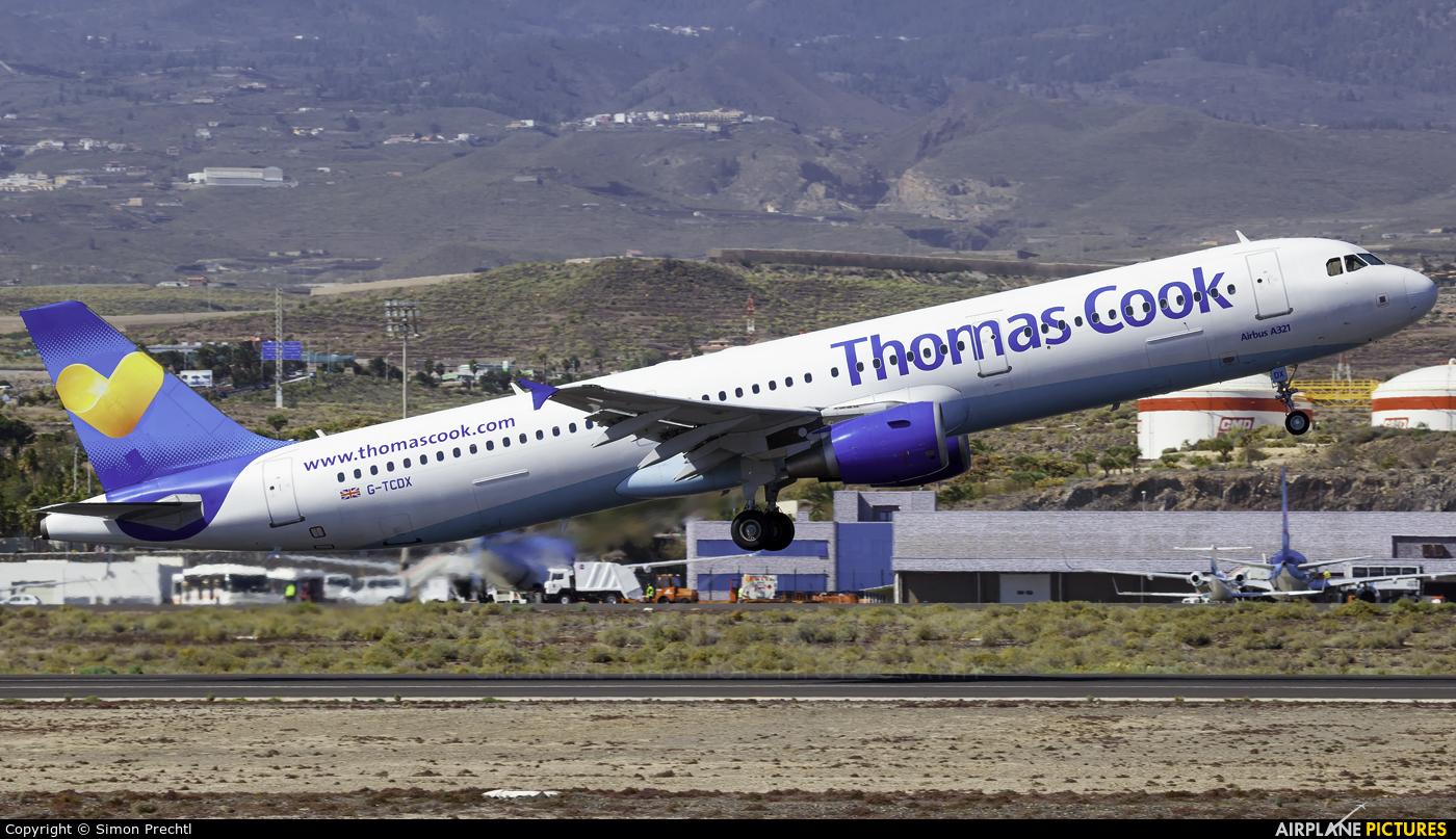 Thomas Cook G-TCDX aircraft at Tenerife Sur - Reina Sofia