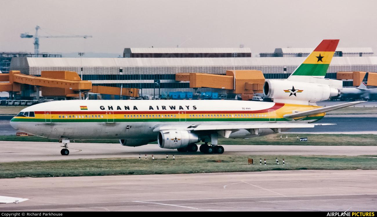 Ghana Airways 9G-ANA aircraft at London - Heathrow