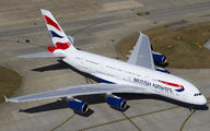 G-XLEL - British Airways Airbus A380 aircraft
