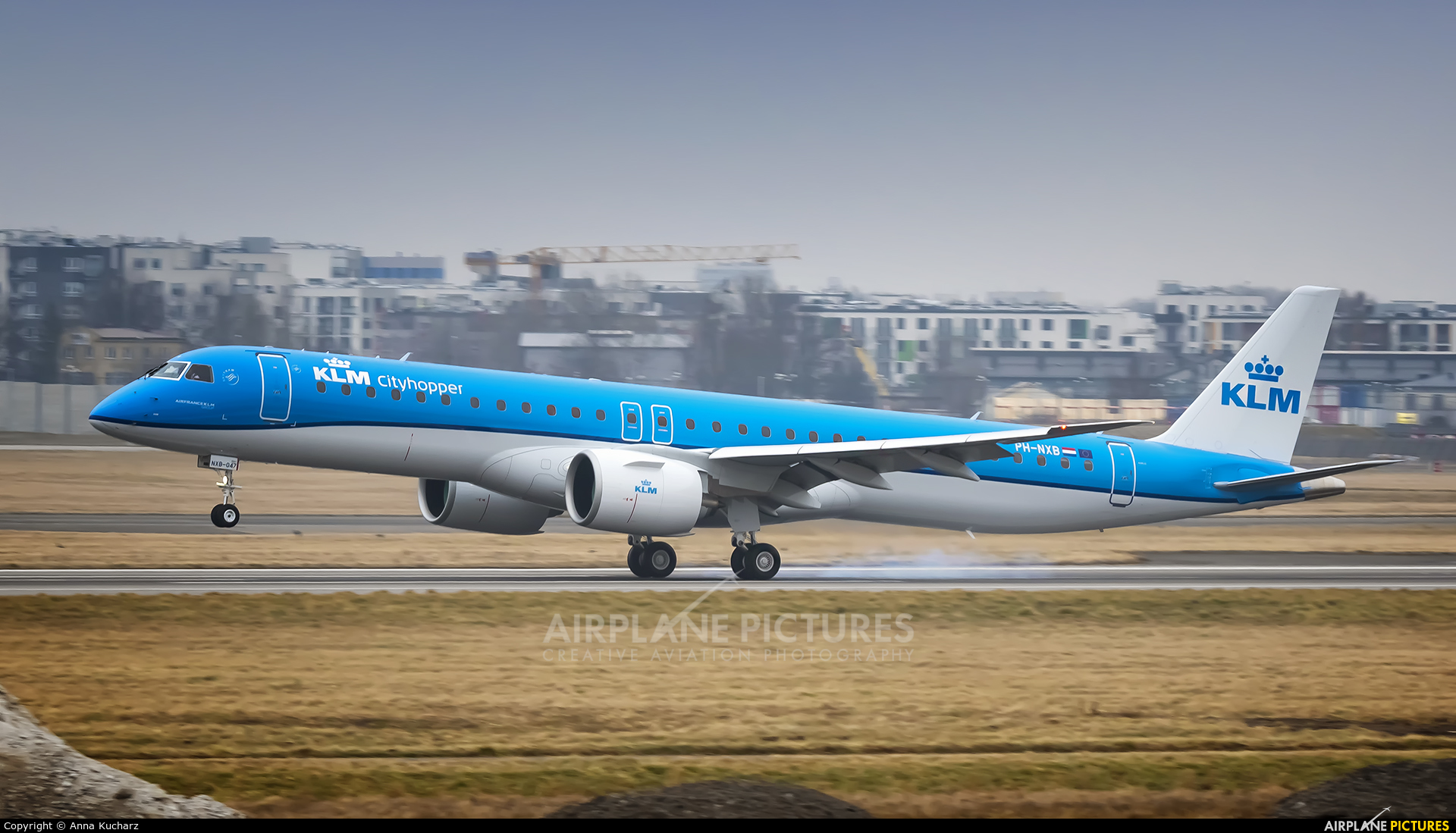 KLM Cityhopper PH-NXB aircraft at Warsaw - Frederic Chopin
