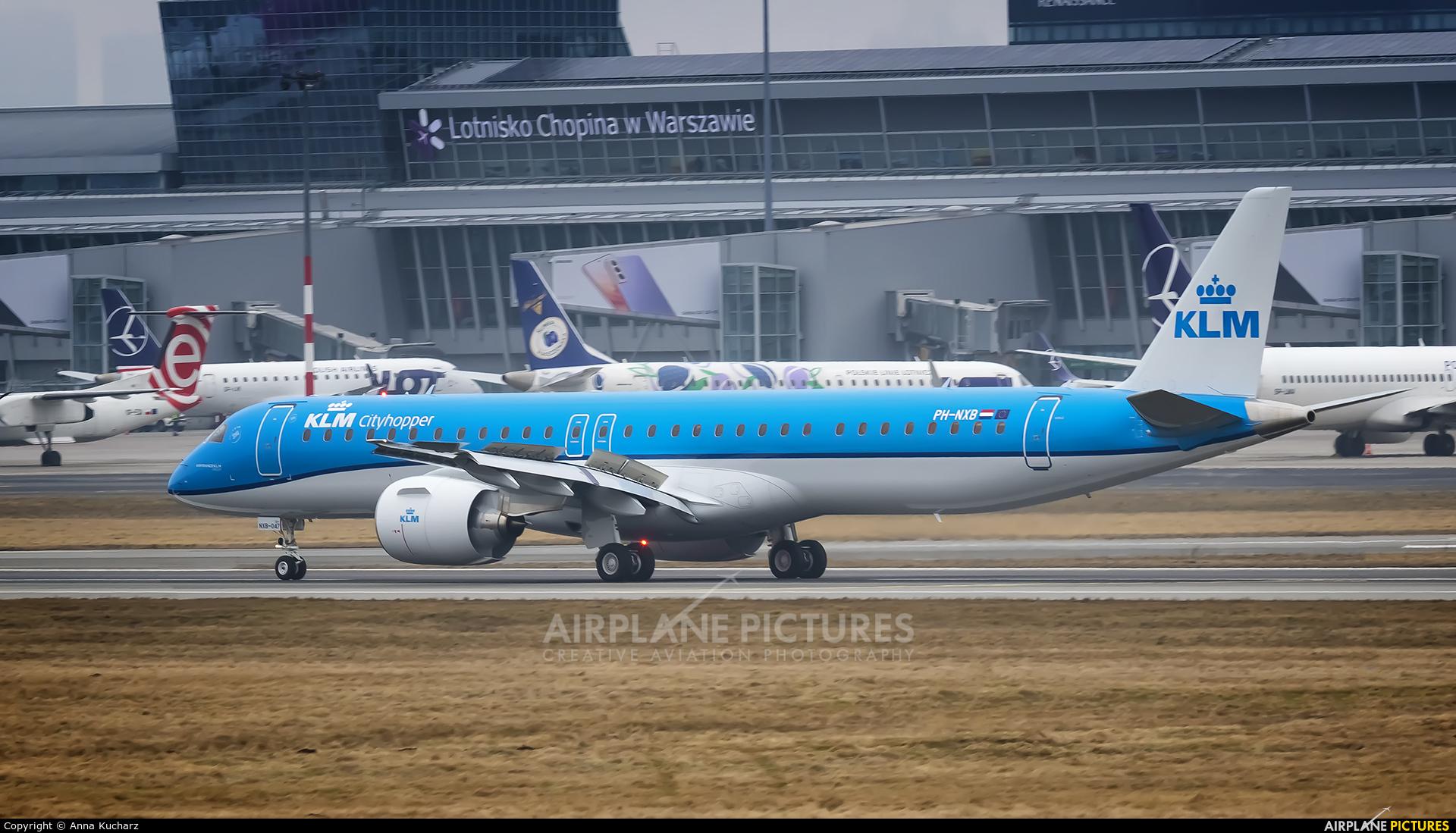 KLM Cityhopper PH-NXB aircraft at Warsaw - Frederic Chopin