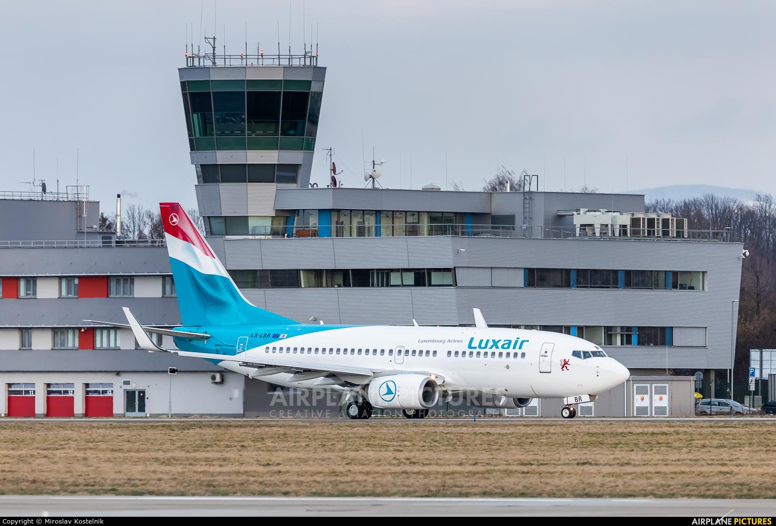Luxair LX-LBR aircraft at Ostrava Mošnov