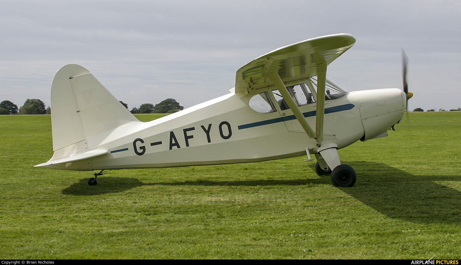 Private G-AFYO aircraft at Northampton / Sywell
