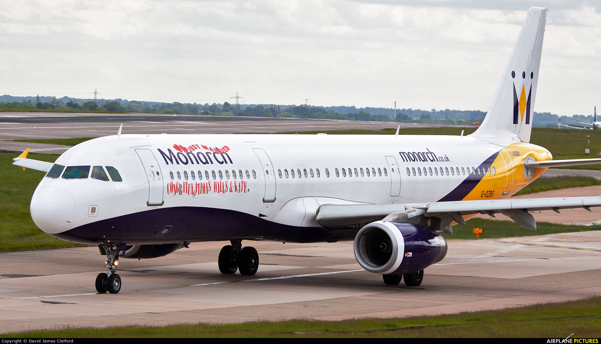Monarch Airlines G-OZBS aircraft at Manchester