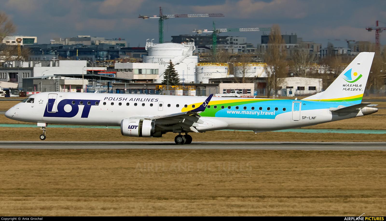 LOT - Polish Airlines SP-LNF aircraft at Warsaw - Frederic Chopin