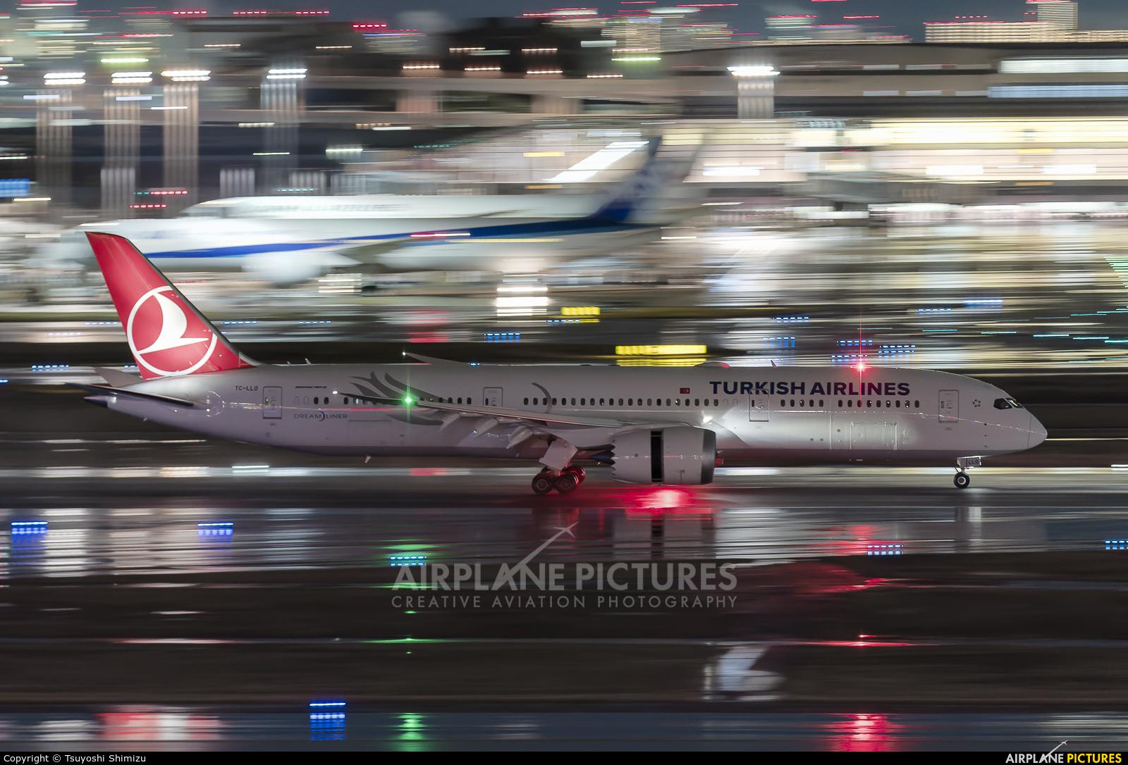 Turkish Airlines TC-LLO aircraft at Tokyo - Haneda Intl