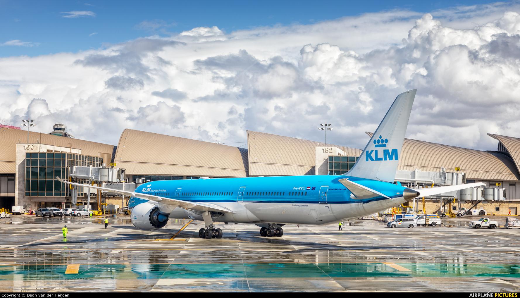 KLM PH-BKG aircraft at Los Angeles Intl