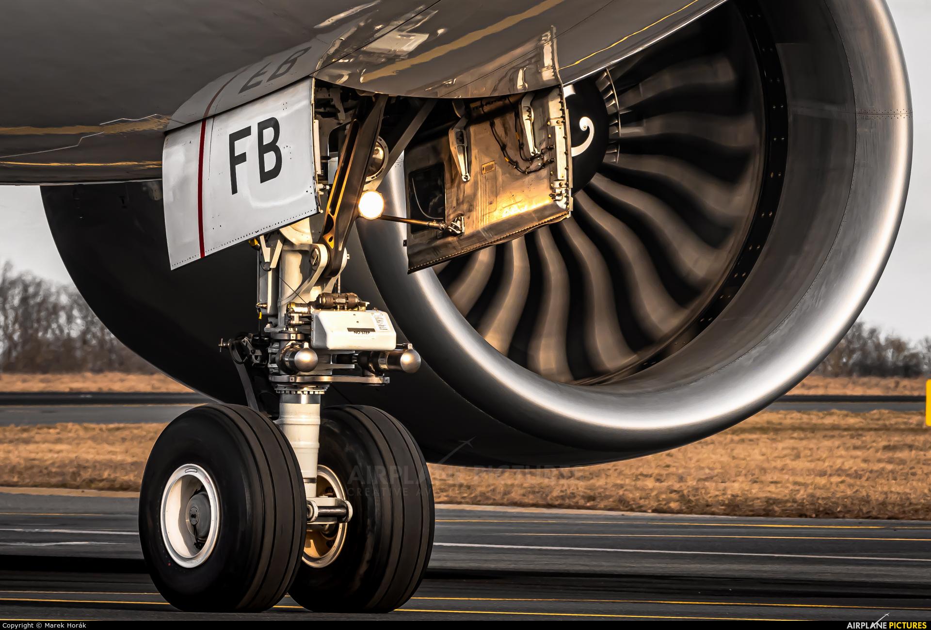 Qatar Airways Cargo A7-BFB aircraft at Prague - Václav Havel