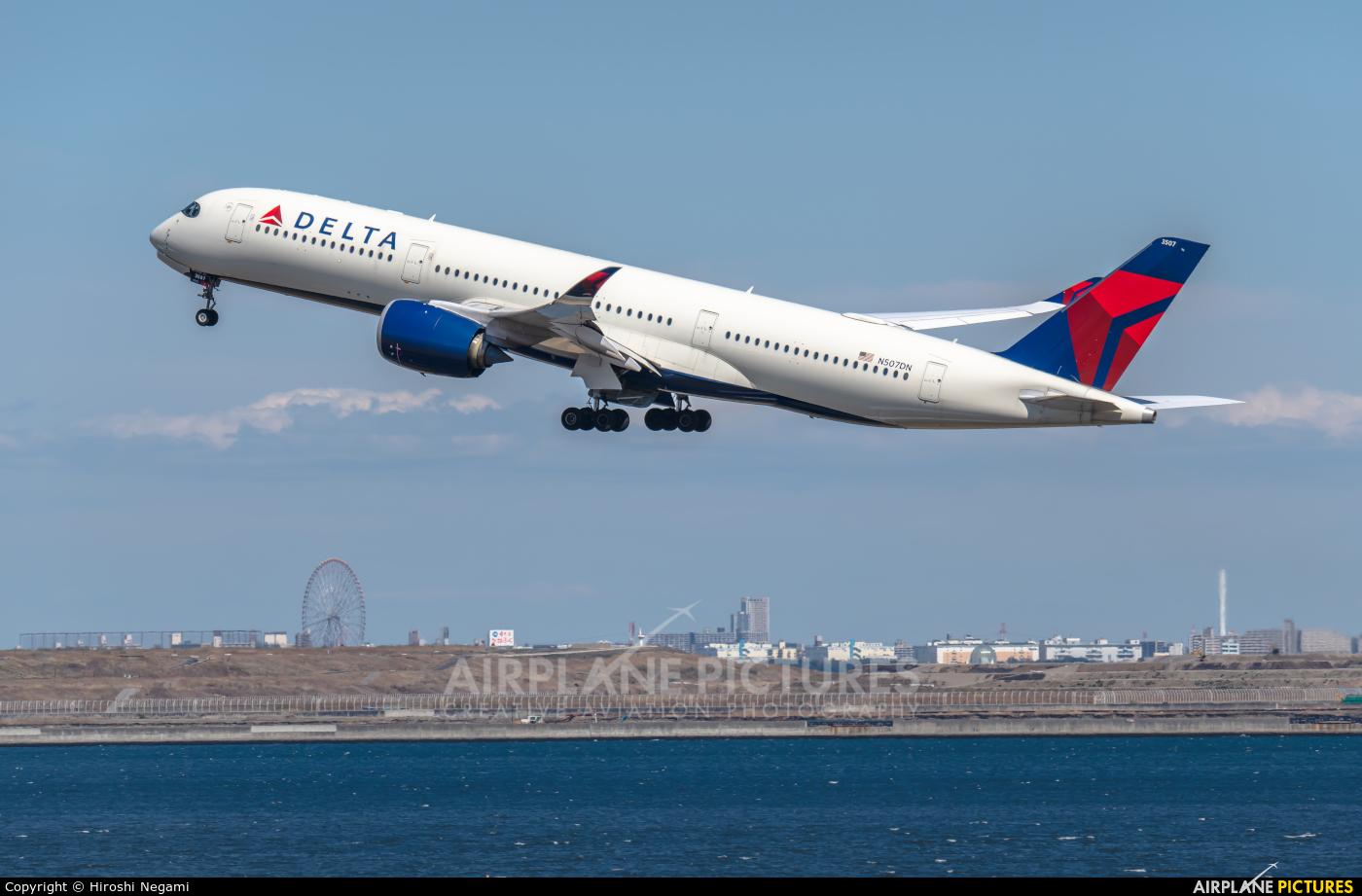Delta Air Lines N507DN aircraft at Tokyo - Haneda Intl