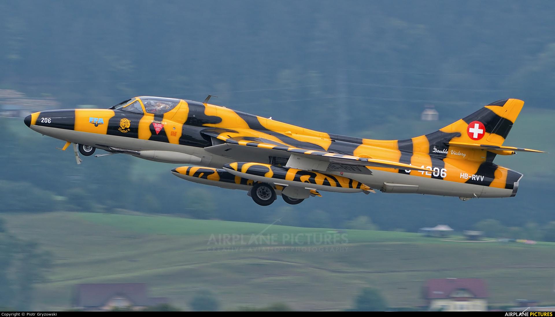 FFA Museum HB-RVV aircraft at Zeltweg