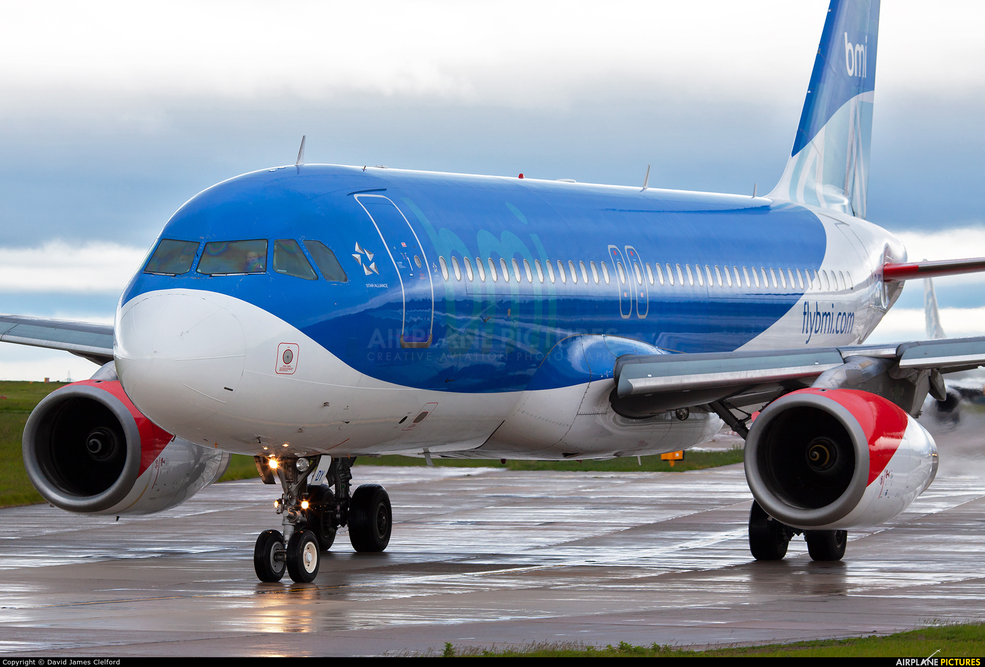BMI British Midland G-MIDY aircraft at Manchester