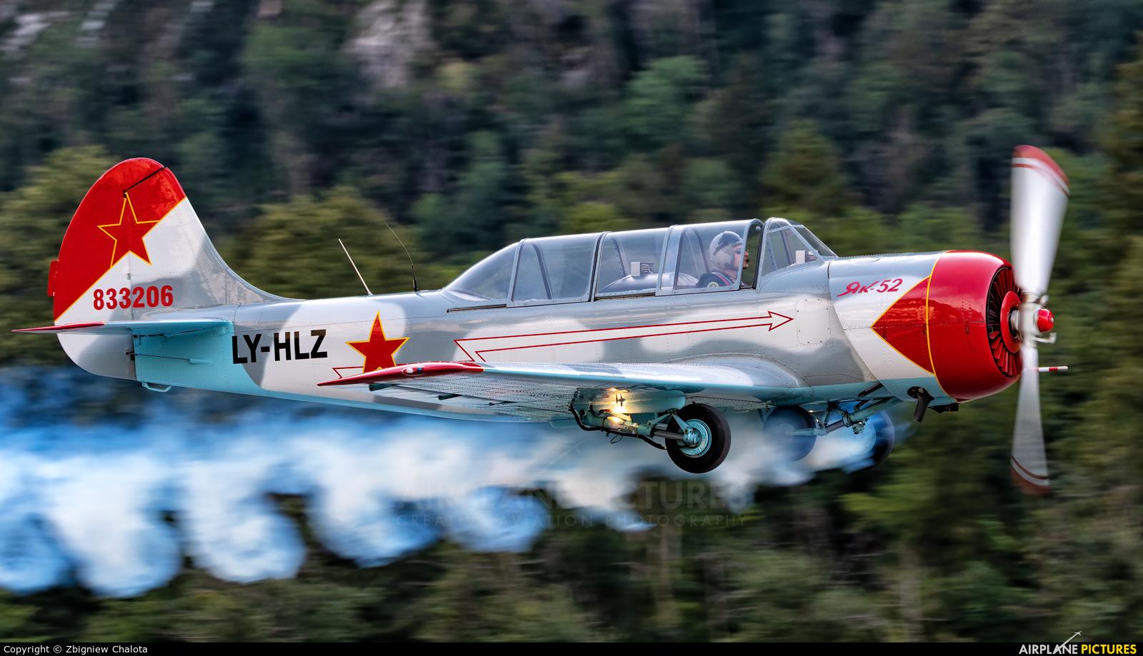 Private LY-HLZ aircraft at Mollis