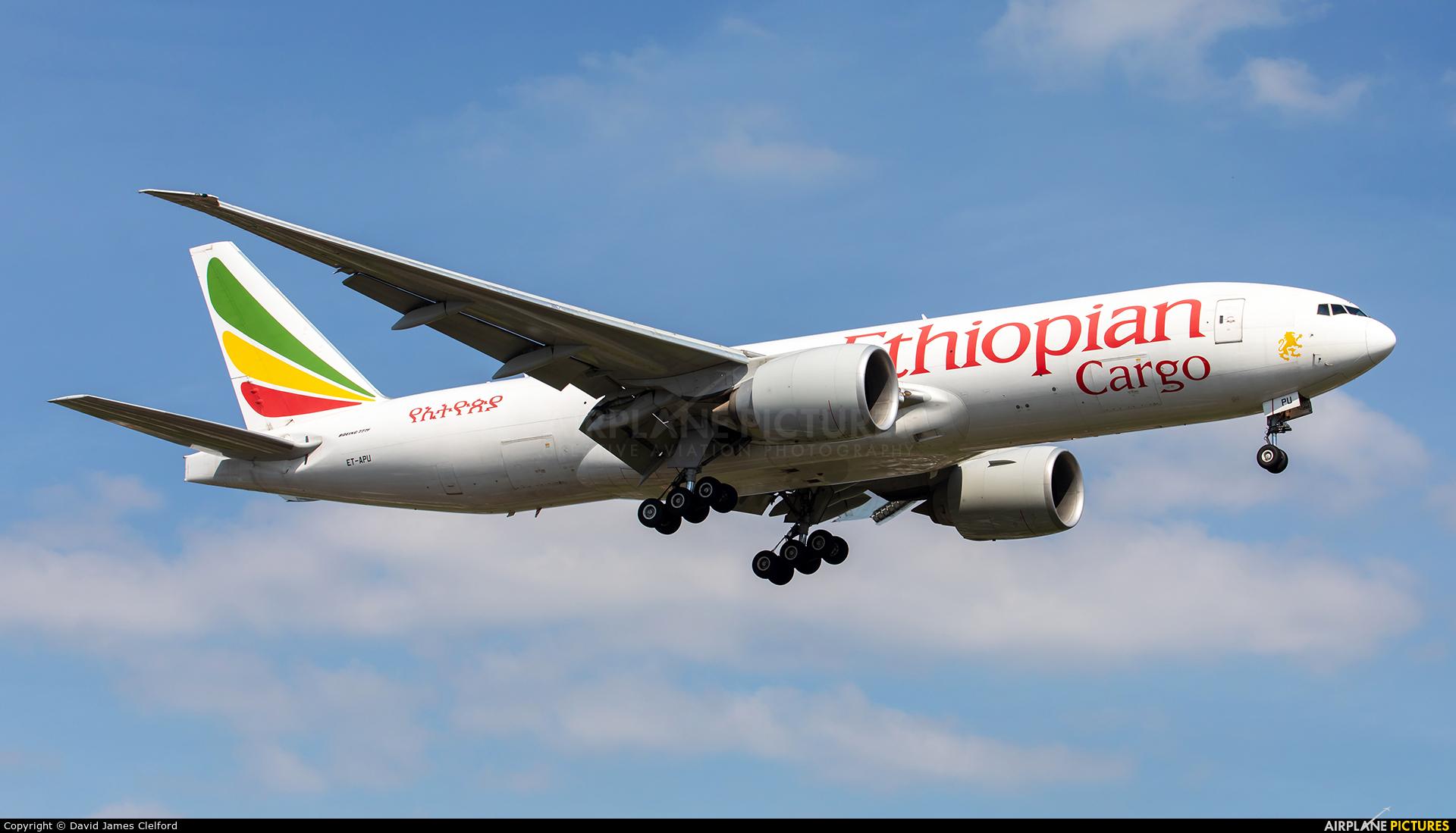 Ethiopian Cargo ET-APU aircraft at Brussels - Zaventem