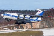 Volga Dnepr Il-76 at Helsinki Vantaa title=