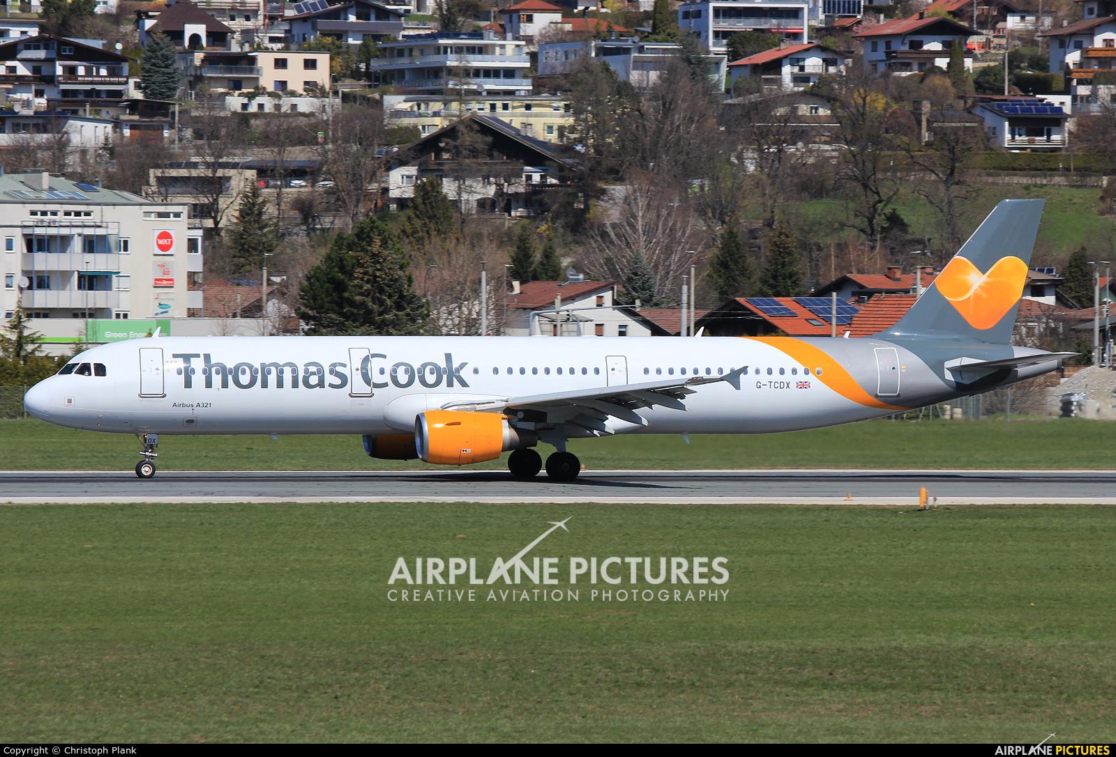 Thomas Cook G-TCDX aircraft at Innsbruck
