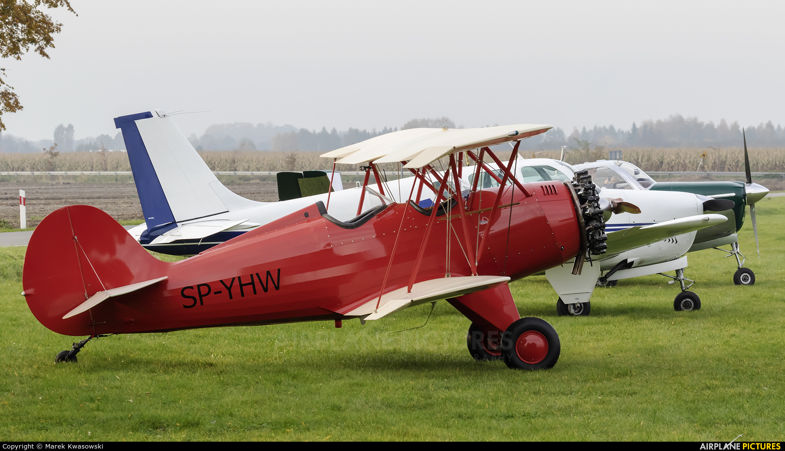 Private SP-YHW aircraft at Konstancin-Jeziorna