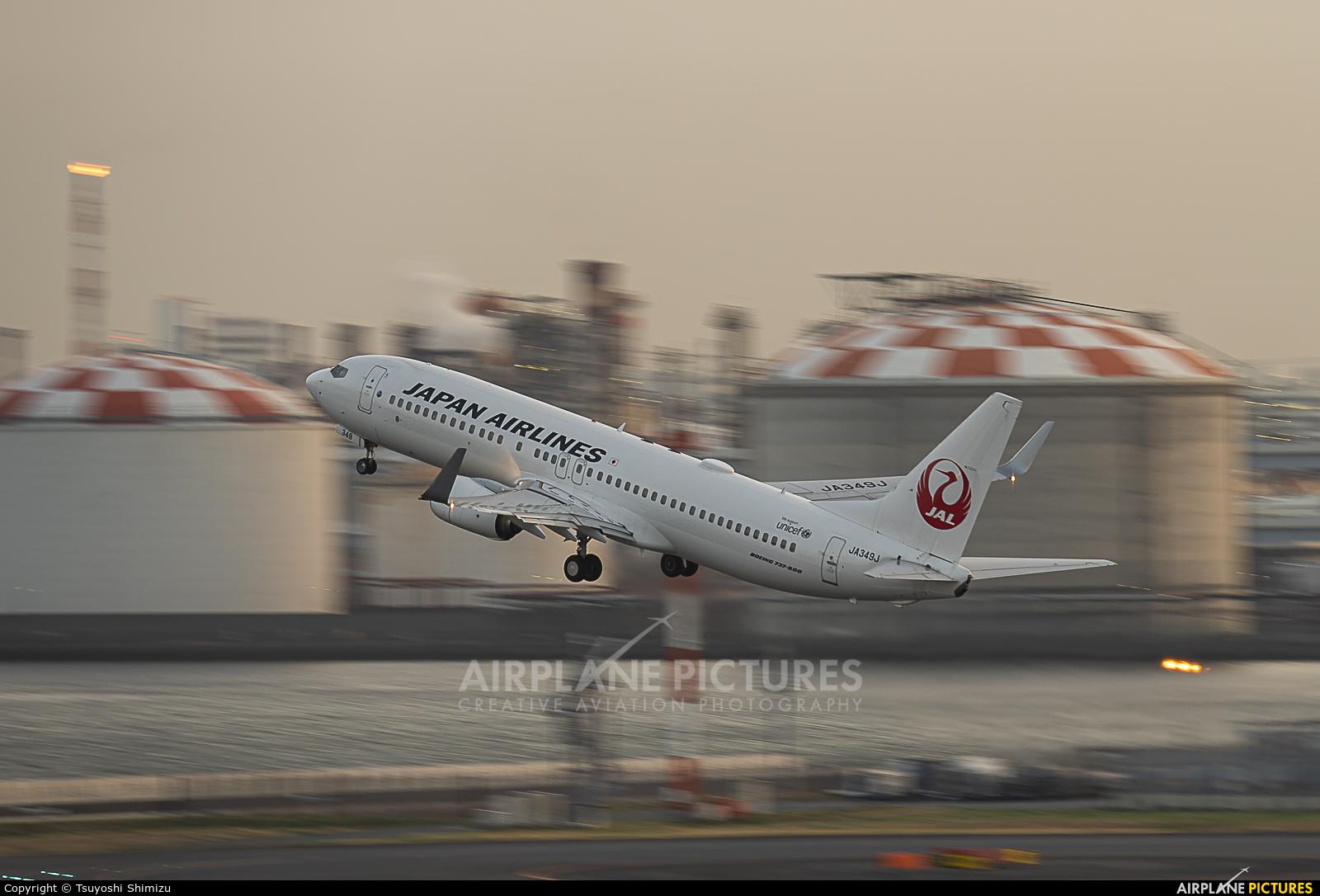 JAL - Japan Airlines JA349J aircraft at Tokyo - Haneda Intl