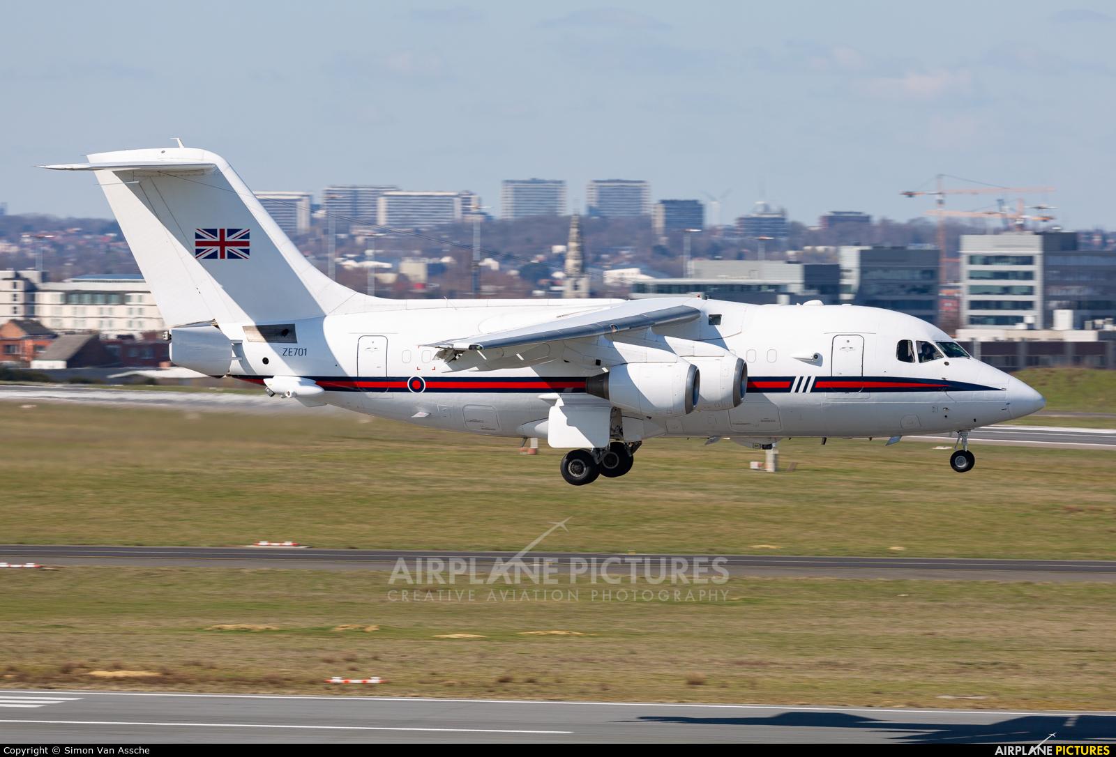 Royal Air Force ZE701 aircraft at Brussels - Zaventem