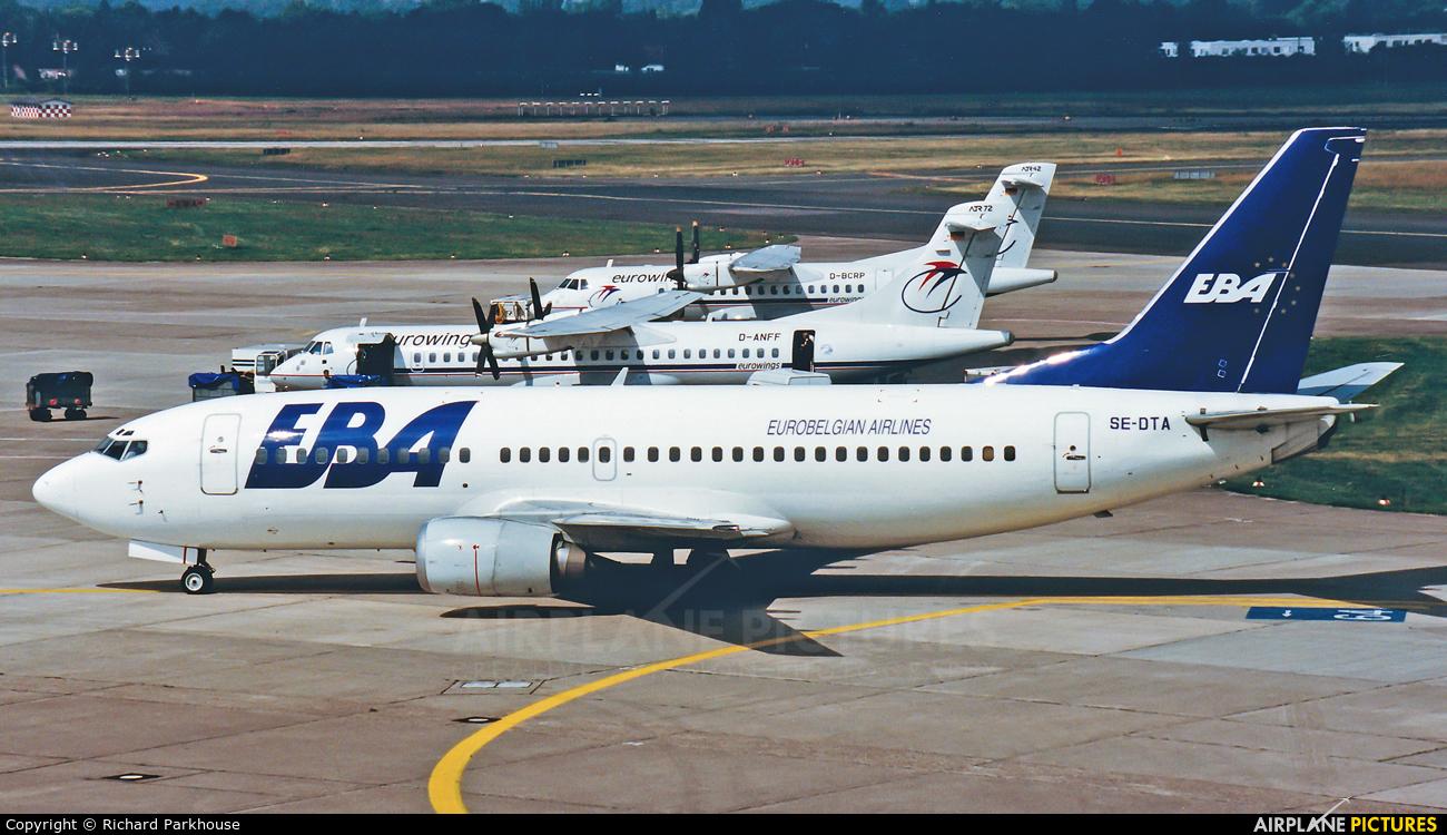 EBA - Eurobelgian Airlines SE-DTA aircraft at Düsseldorf