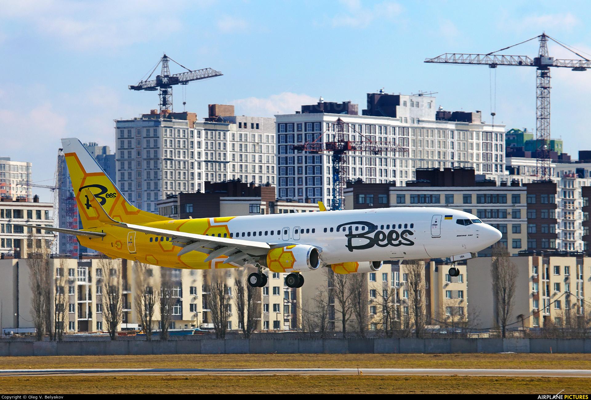 Bees Airline UR-UBA aircraft at Kyiv - Zhulyany