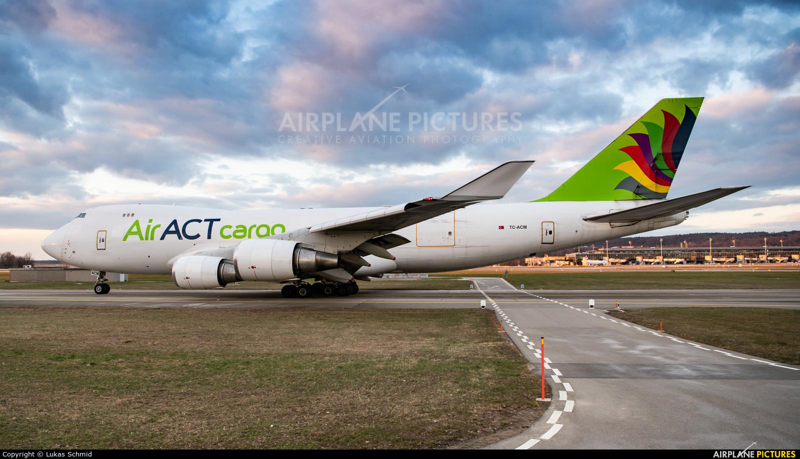 ACT Cargo TC-ACM aircraft at Zurich
