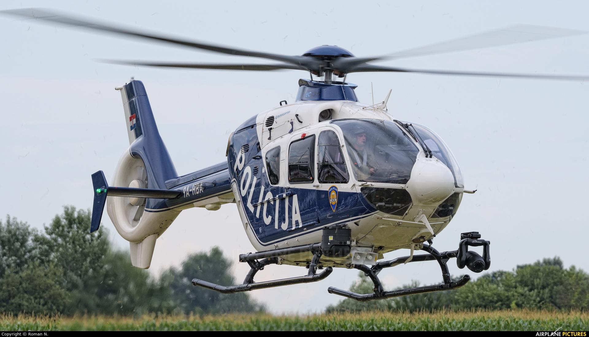 Croatia - Police 9A-HBA aircraft at Varazdin