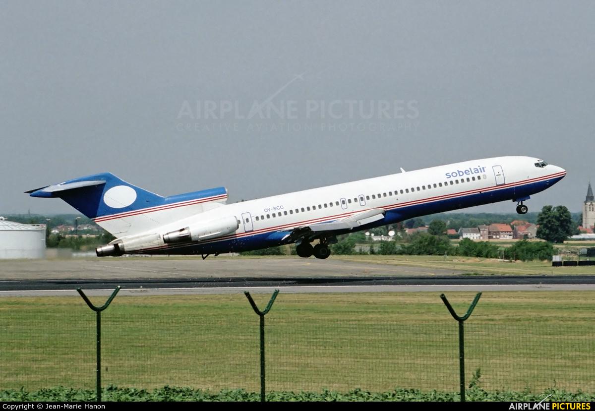 Sobelair OY-SCC aircraft at Brussels - Zaventem