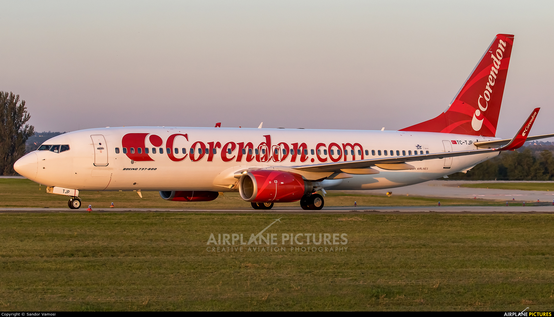 Corendon Airlines TC-TJP aircraft at Budapest Ferenc Liszt International Airport