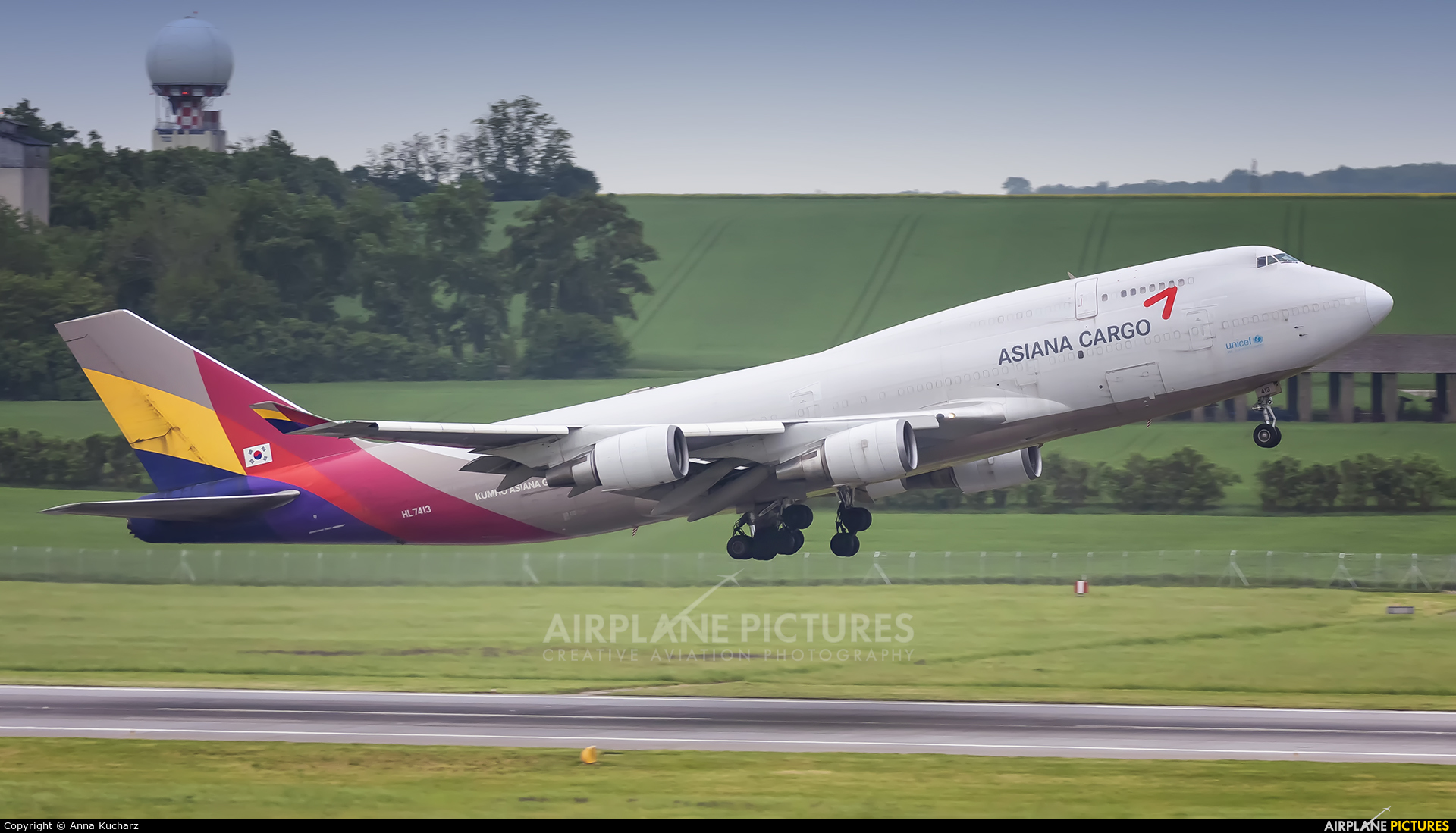 Asiana Cargo HL7413 aircraft at Vienna - Schwechat