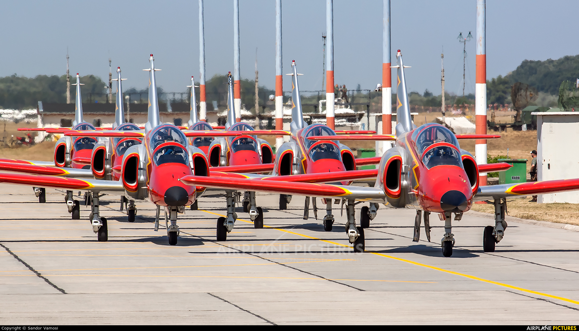 Spain - Air Force : Patrulla Aguila E.25-48 aircraft at Kecskemét