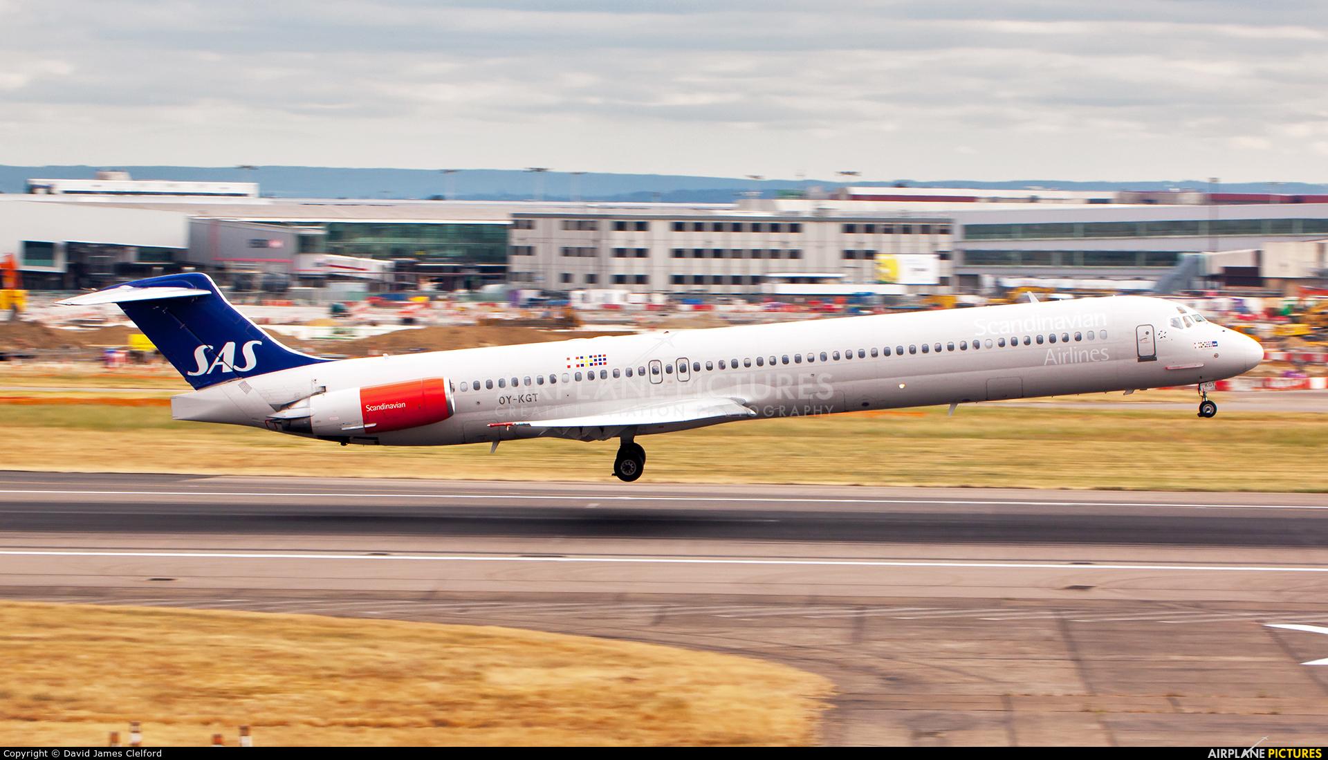 SAS - Scandinavian Airlines OY-KGT aircraft at London - Heathrow
