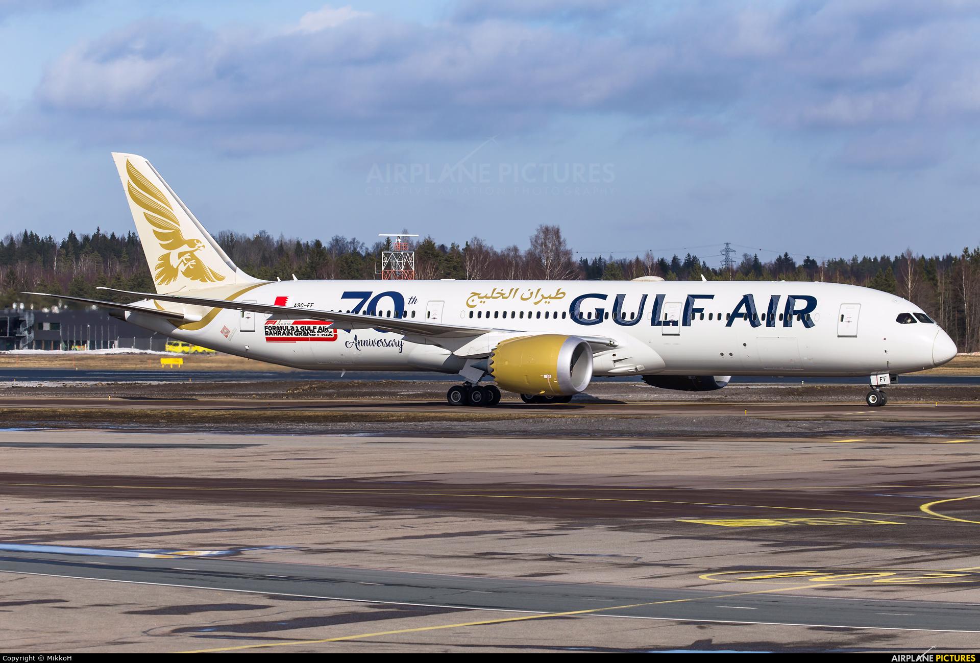 Gulf Air A9C-FF aircraft at Helsinki - Vantaa