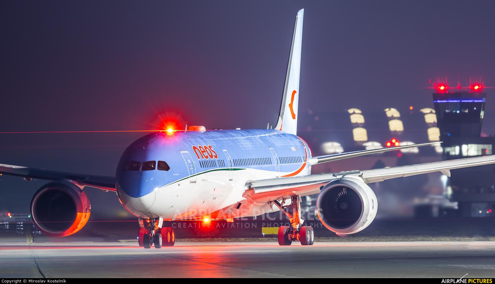 Neos EI-NUA aircraft at Ostrava Mošnov