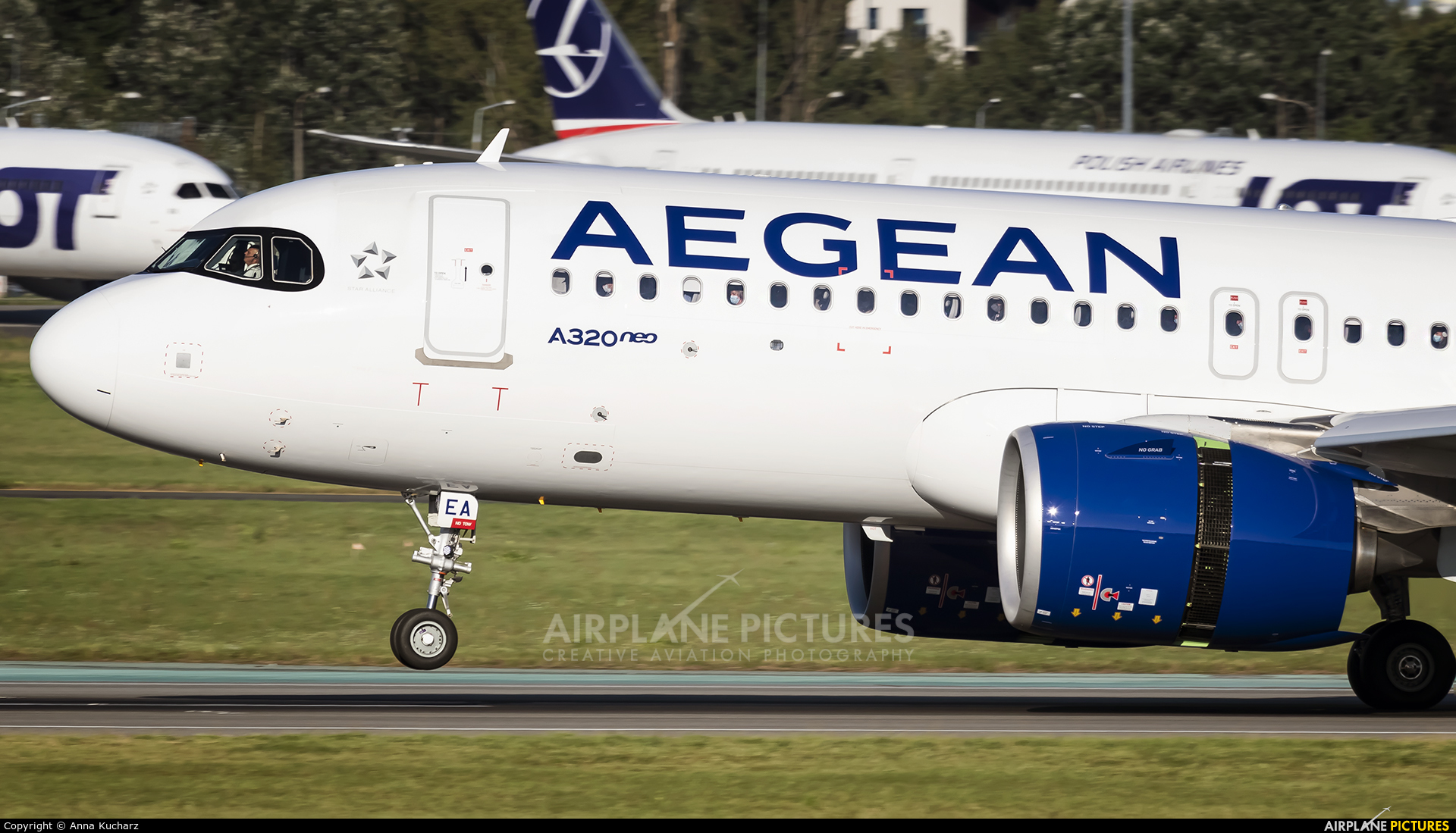 Aegean Airlines SX-NEA aircraft at Warsaw - Frederic Chopin