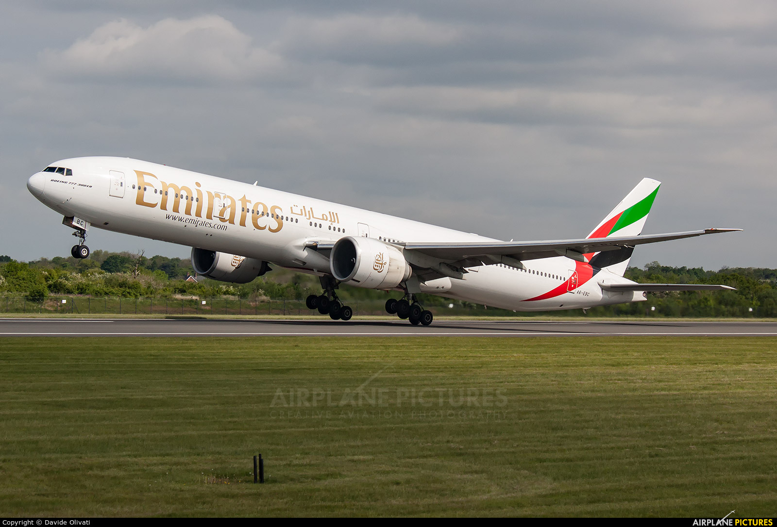 Emirates Airlines A6-EBC aircraft at Manchester