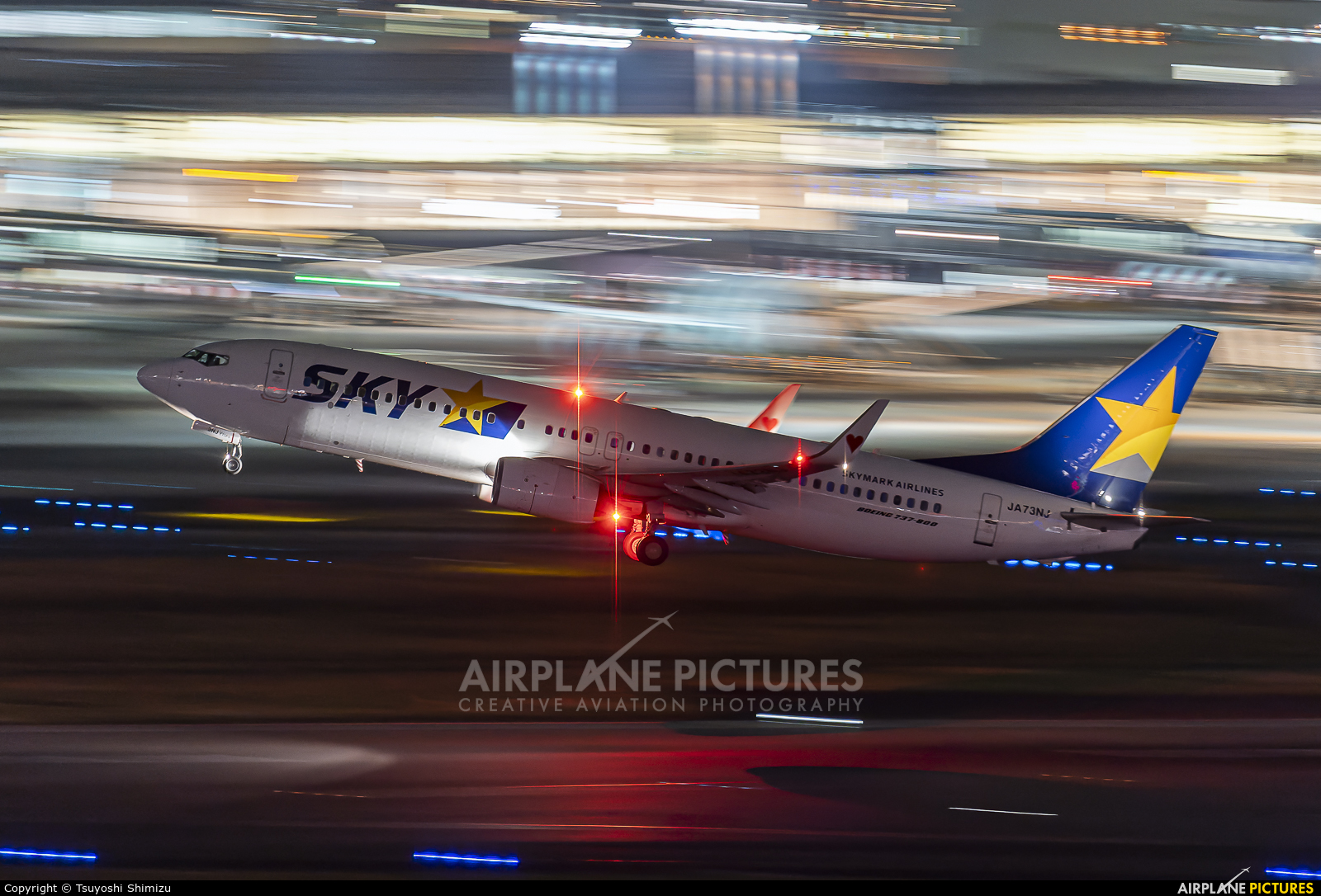 Skymark Airlines JA73NJ aircraft at Tokyo - Haneda Intl