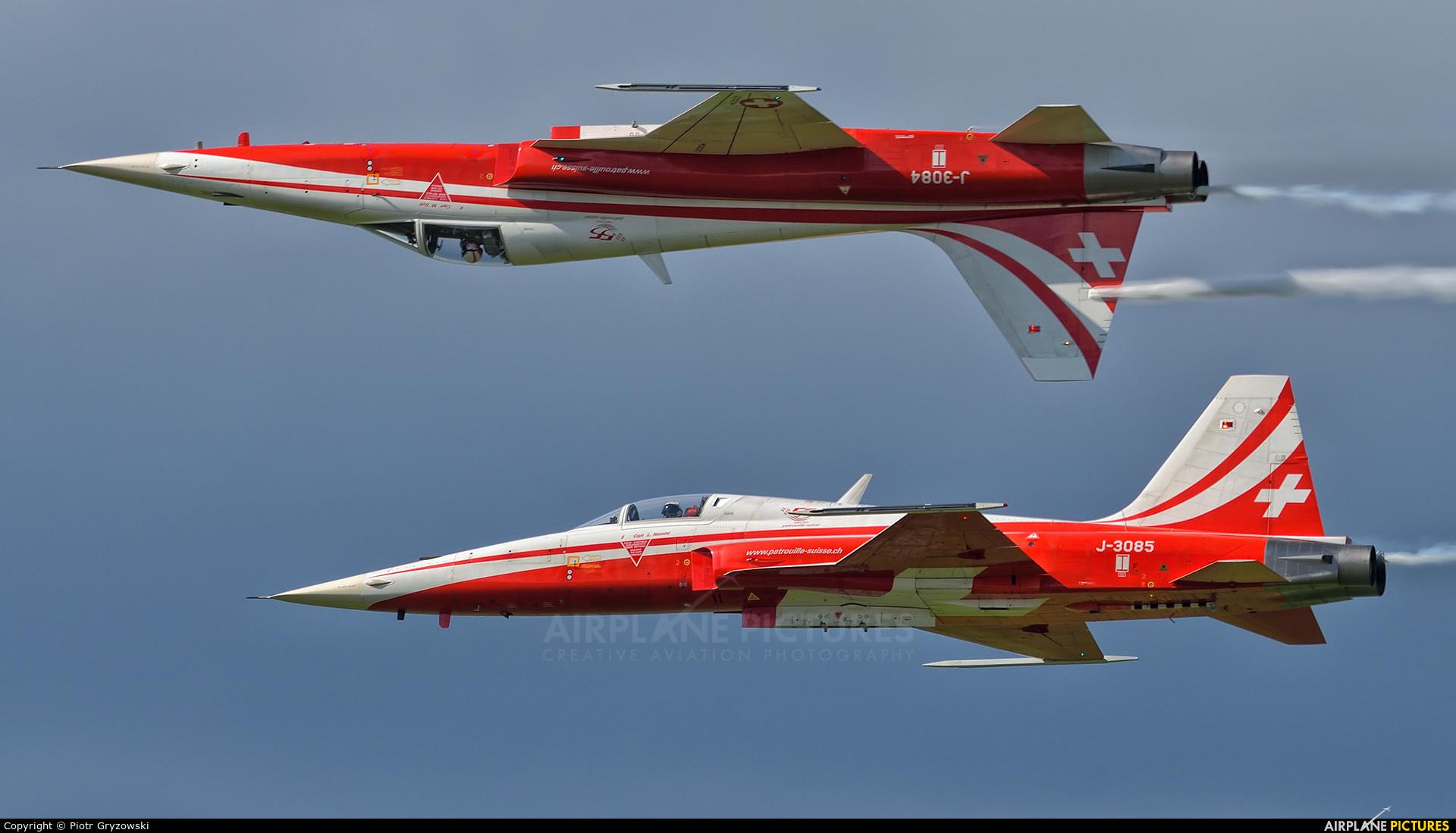 Switzerland - Air Force:  Patrouille de Suisse J-3085 aircraft at Zeltweg