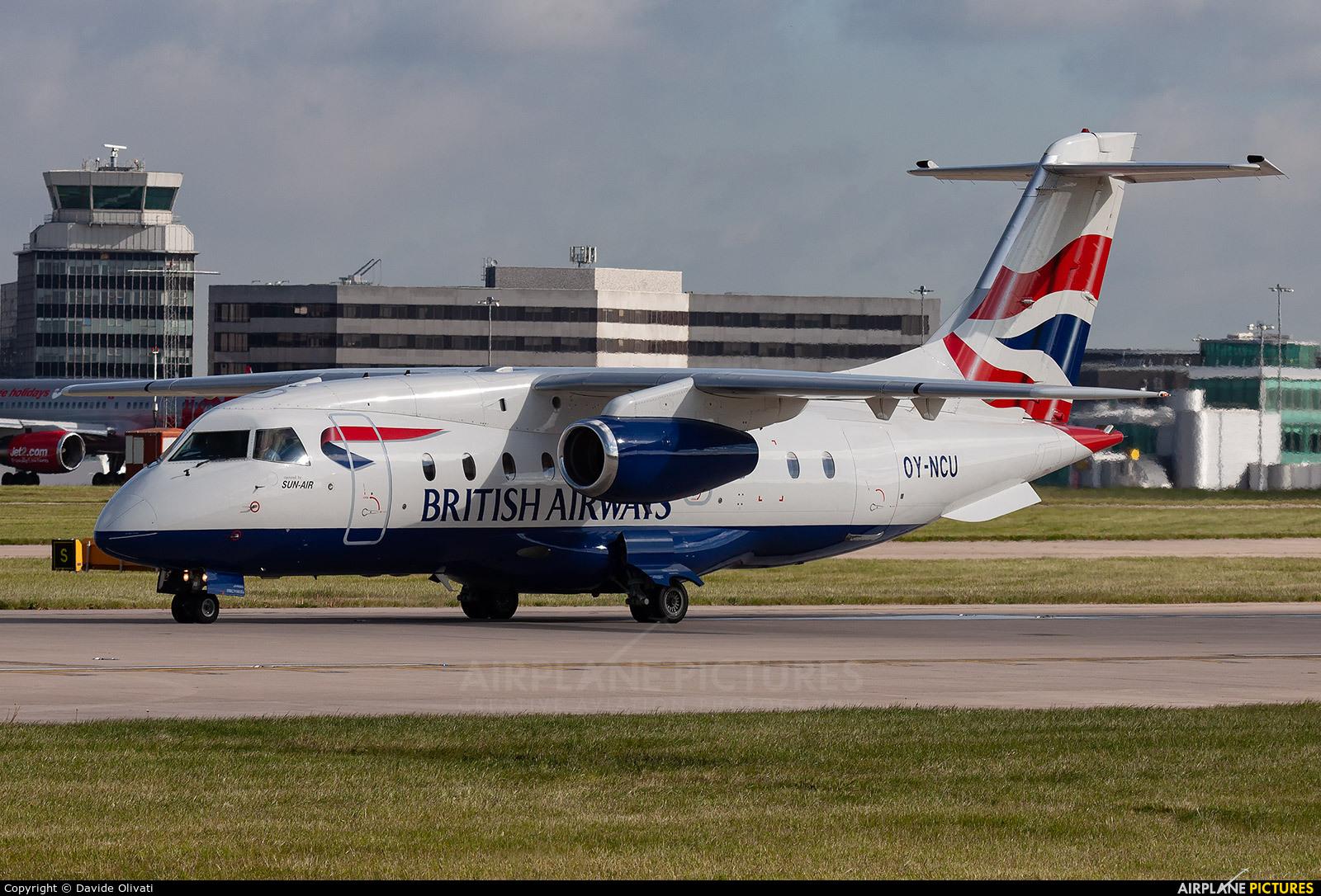 British Airways - Sun Air OY-NCU aircraft at Manchester
